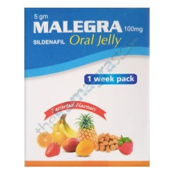 Malegra 100 mg oral jelly 1 week pack