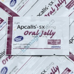 Apcalis SX 20 mg Oral Jelly Black Currant  Flavour