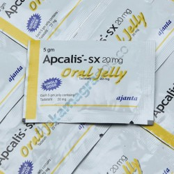 Apcalis SX 20 mg Oral Jelly Pineapple  Flavour