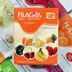 Filagra Gel Shots 100mg 1 Week Pack 7 Delicious Flavours